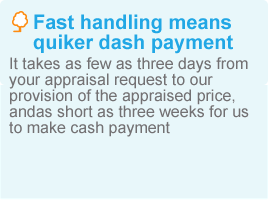 Fast handling means quiker dash payment